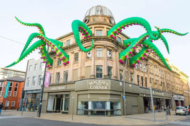 The tentacles at Mackie's Corner as part of 2019's Lights Out event
