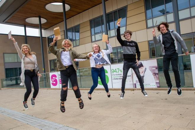 Sunderland College BTEC results day