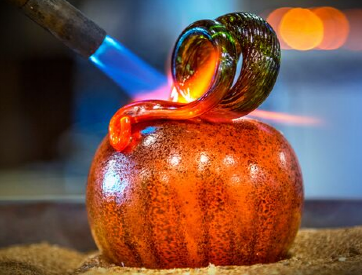 Make a Glass Pumpkin