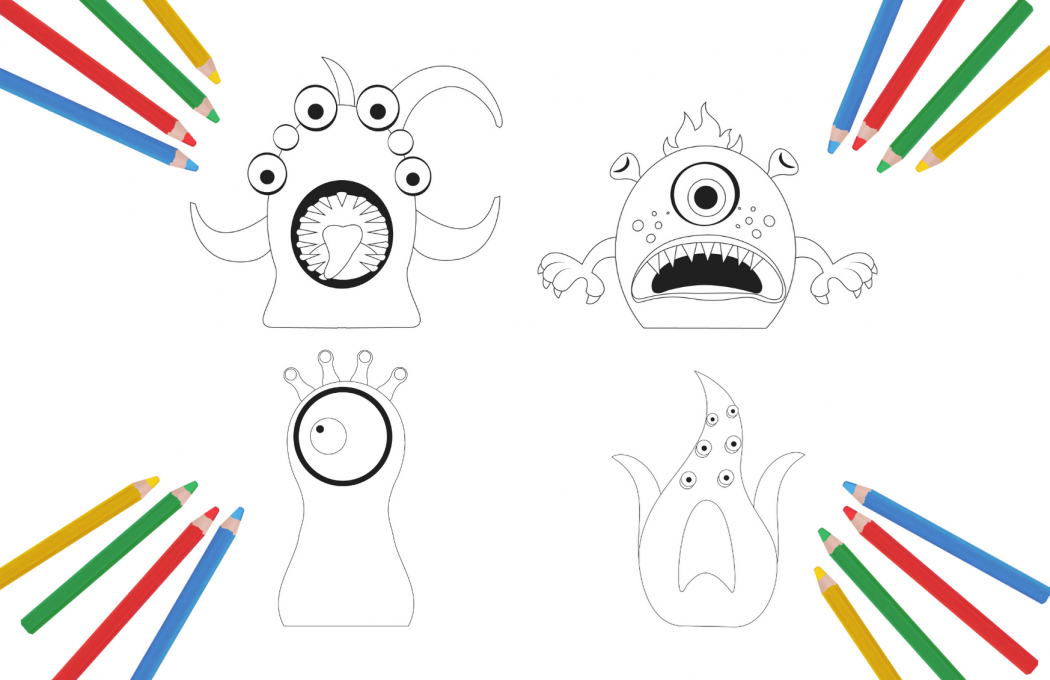 Colour your monster in