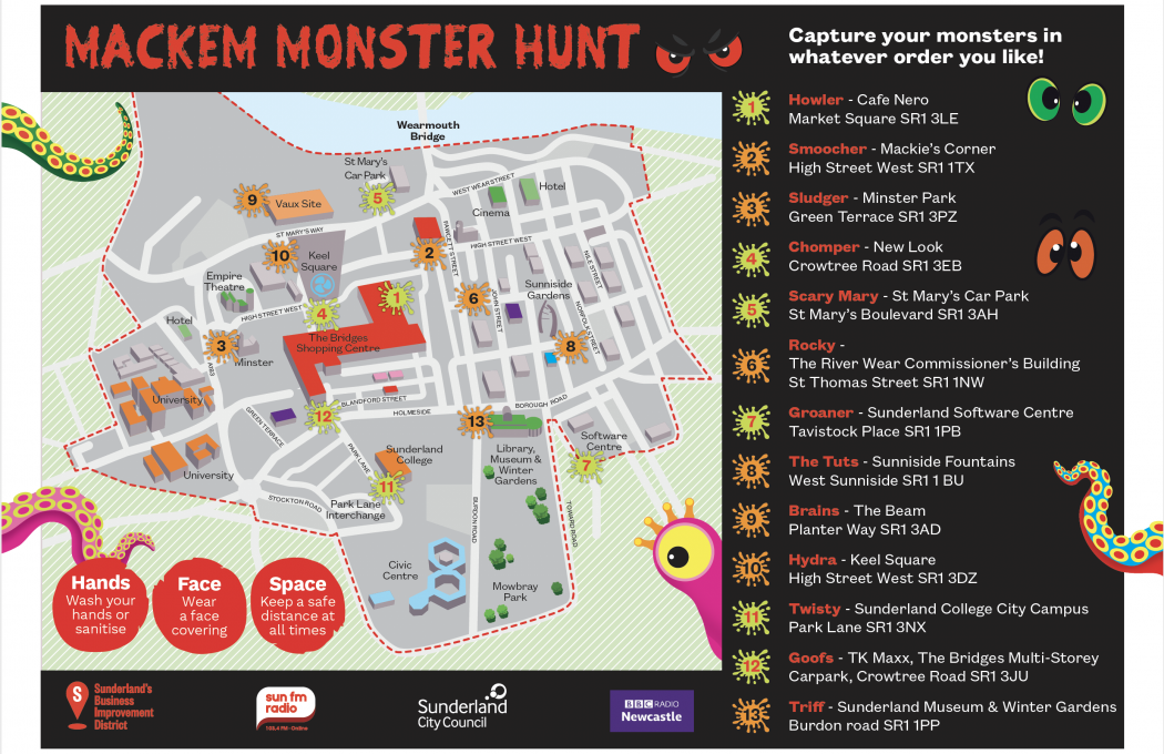 Makem Monster Hunt Map